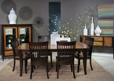 Elm and Brown Maple Dining Collection by Country View Woodworking LTD.